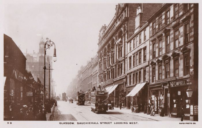 Sauchiehall Street at Hope Street, Glasgow