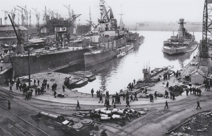HMS Repulse fitting out