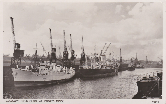 View of shipping at Plantation Quay, Glasgow
